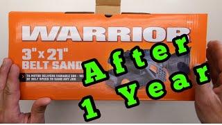 Harbor Freight Warrior Belt Sander Review -- AFTER 1 YEAR