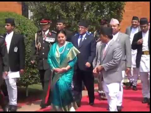 राष्ट्रपति विद्यादेवि भण्डारी भारत प्रस्थान