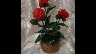 Лепим букет из роз. Холодный фарфор.