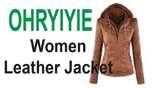 OHRYIYIE Leather Jacket || Women Jacket  || Best Ladies Blazers  ||
