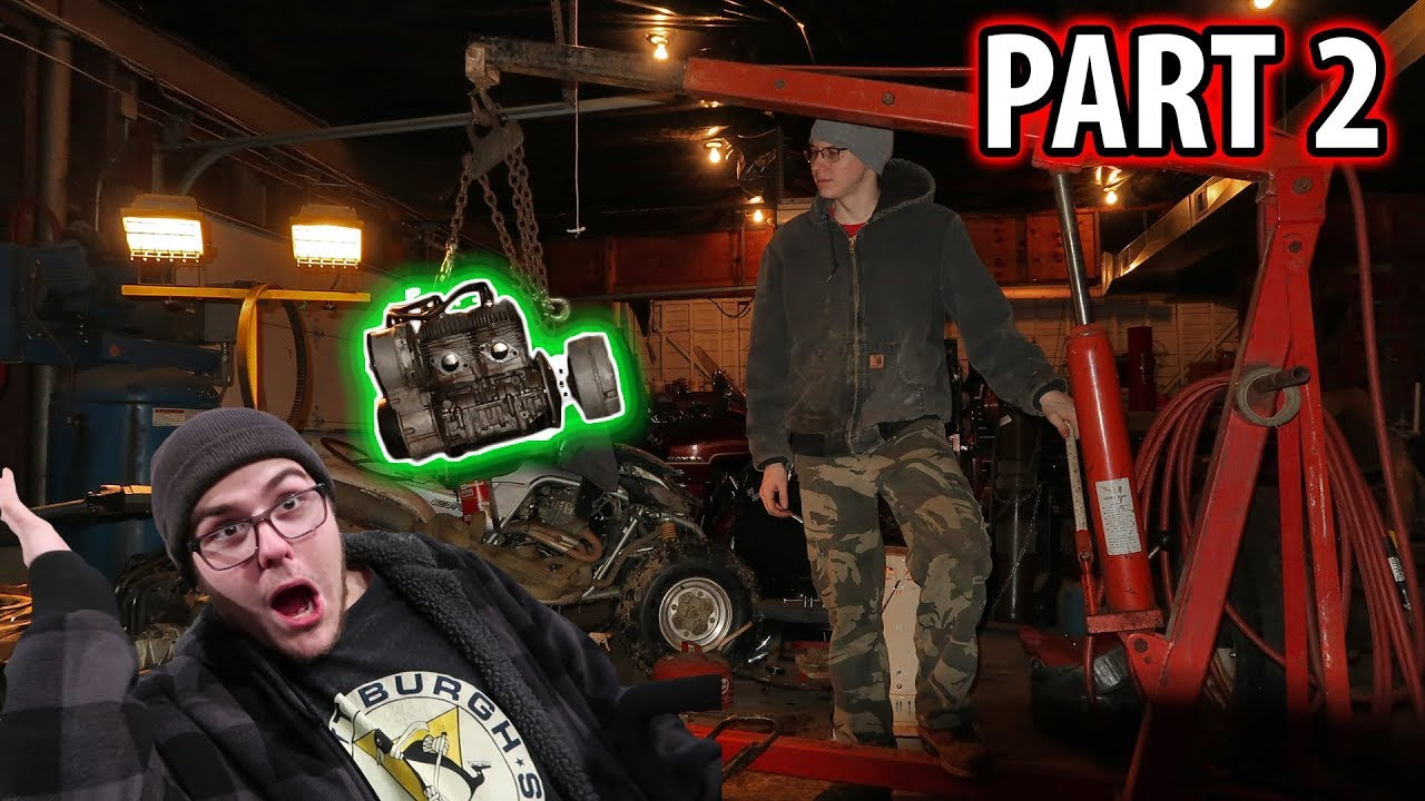 how to put a snowmobile motor in a go kart (part 2)