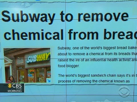 Headlines: Subway to remove chemical used to make yoga mats