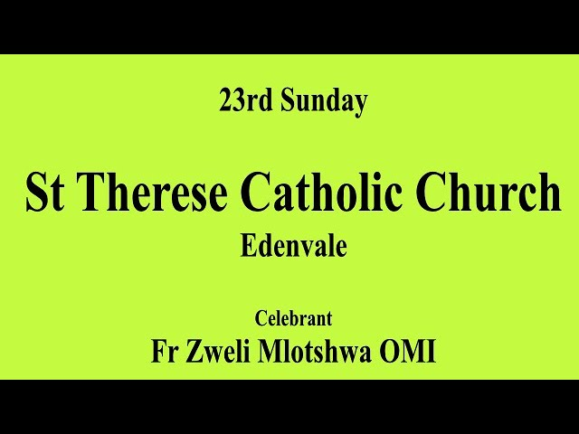 23rd Sunday in Ordinary Time A - 6th September 2020