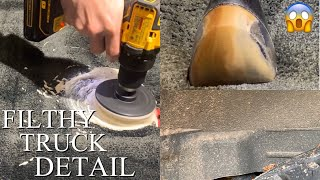 DIRTY CAR DETAILING   Satisfying Transformation Deep Cleaning of Filthy Truck Interior and Exterior