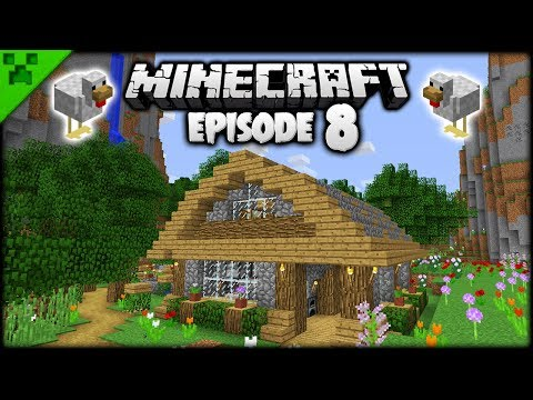 Automatic Minecraft Animal Barn!  Python's World Minecraft Survival Let's Play  Episode 8