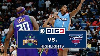 BIG3 Playoffs | 3 Headed Monsters vs. Triplets | Highlights