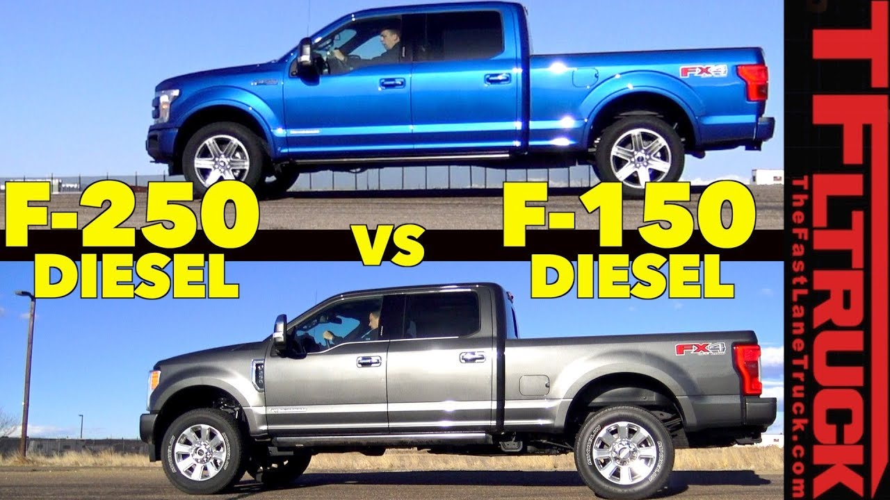 F150 Vs F250 >> Which One Is Faster 2018 Ford F150 Vs F250 Diesel Mashup Review