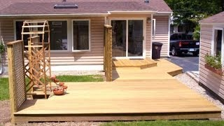Platform Deck With Arbor And Lattice Combo.