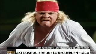 Axl Rose quiere que saquen sus memes –Telefe Noticias