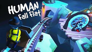 Running Over My Friends With A Minecart in Human Fall Flat New Map
