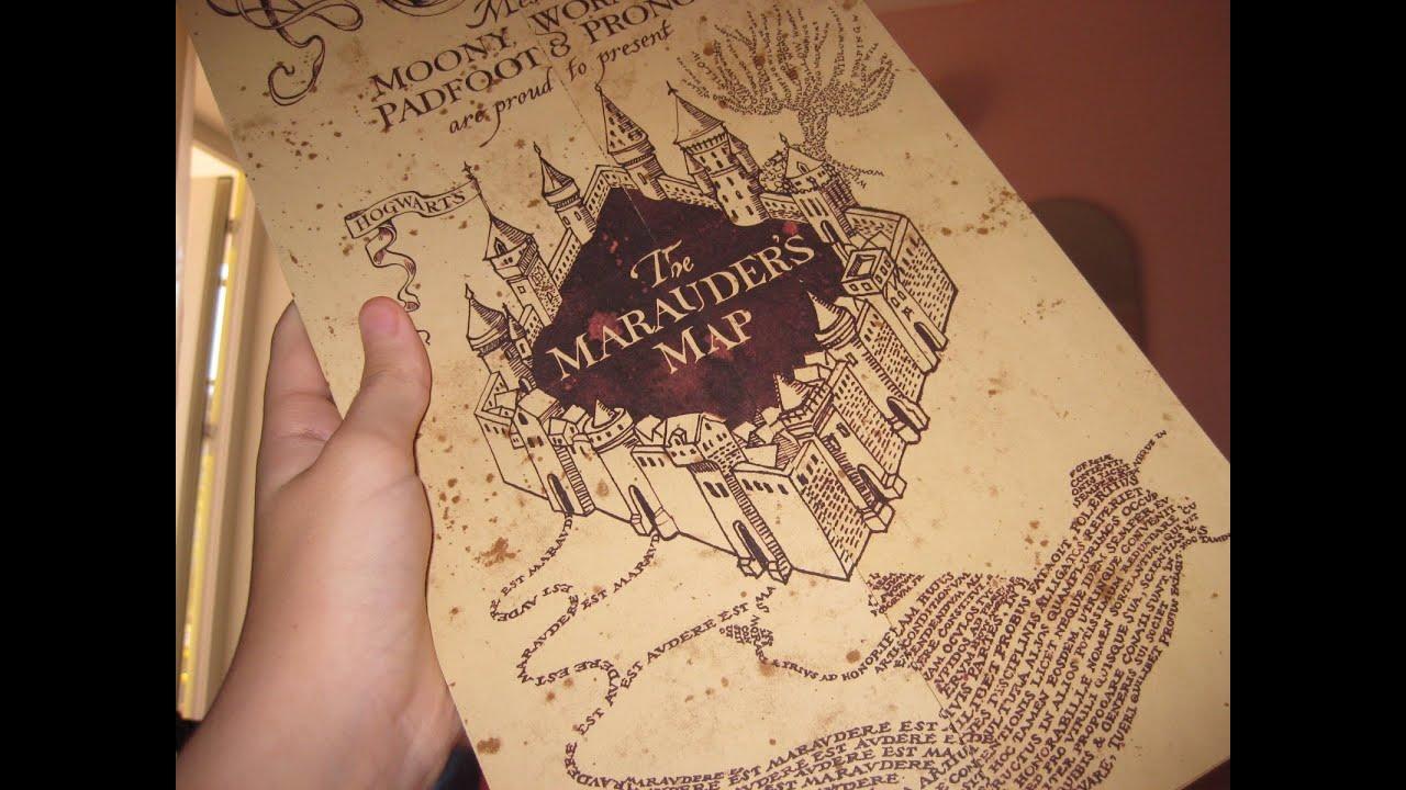 Как сделать Карту Мародеров? Harry Potter DIY