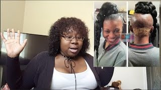 JUMBO BRAID GONE WRONG!!! HAIRSTYLISTS HORROR PHOTOS (REACTION)