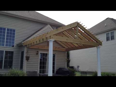Gable Style Pergola With Double Rafters By Archadeck