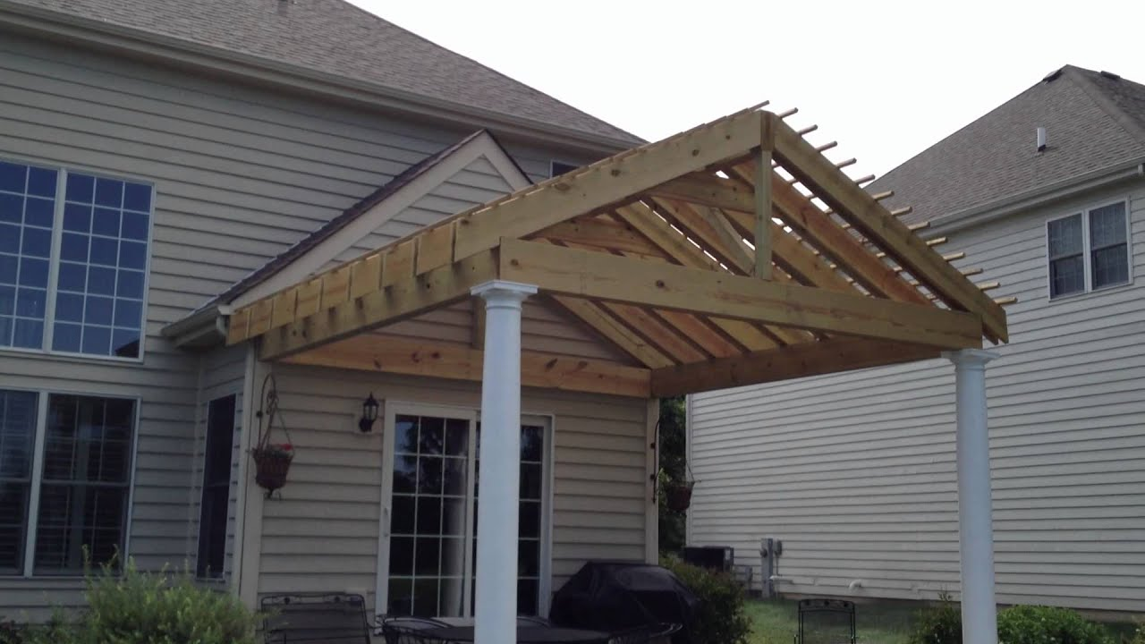 'Gable style' Pergola with Double Rafters by Archadeck - Gable Style' Pergola With Double Rafters By Archadeck - YouTube