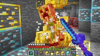 Minecraft UHC but mobs drop Lucky Blocks...