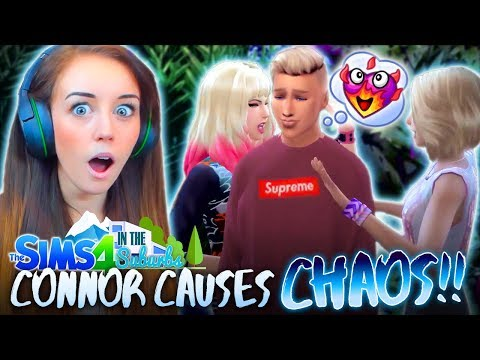 💁‍♂️GIRLS FIGHTING OVER CONNOR!? 😱 (The Sims 4 IN THE SUBURBS #13! 🏘)