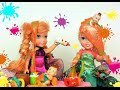 Elsia and Annia Toddlers Funny Twins Lunch Time - Stories with Toys and Dolls