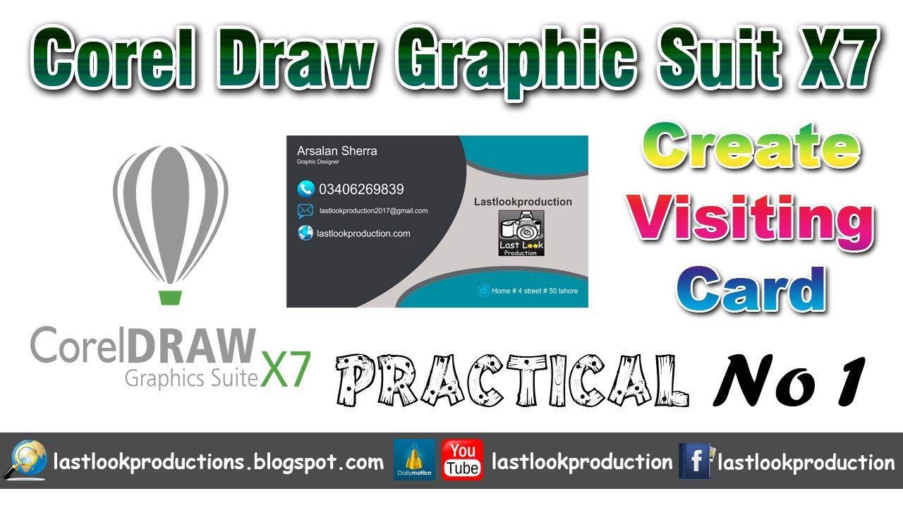 Corel draw viewer online - Corel Draw Graphic Suit X7 Create Visiting Card Practical No 1 Urdu Hindi