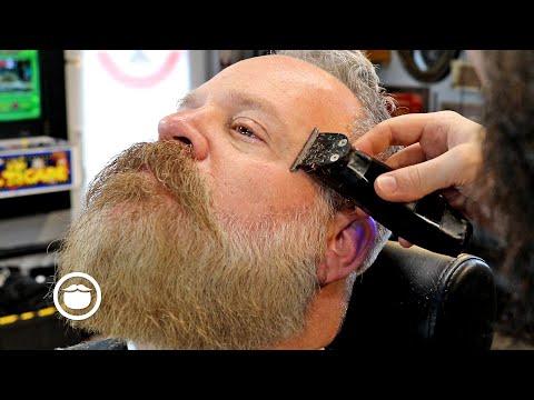 "Dense Bearded Guy Gets A ""King George"" Transformation | The Dapper Den Barbershop"