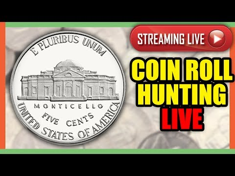 🔴 COIN ROLL HUNTING NICKELS AND PENNIES WORTH MONEY!! LIVE STREAM!!