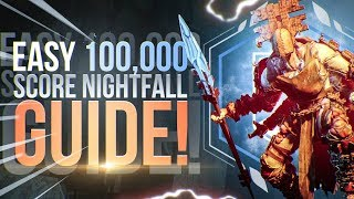 Hollowed Lair EASY 100k Nightfall Strike! Destiny 2: Forsaken Guide!