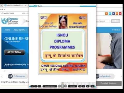 DIPLOMA PROGRAMMES AVAILABLE IN IGNOU