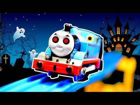 きかんしゃトーマス プラレール おばけ電車とスライムでじこはおこるさ はたらく車がお助け charmmy