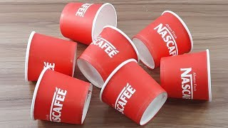 Coffee paper cup reuse idea | Amazing home decorating Out of Coffee paper cups