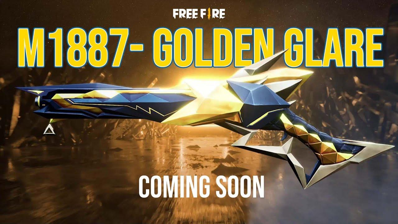 Coming Soon: M1887 Golden Glare   Garena Free Fire
