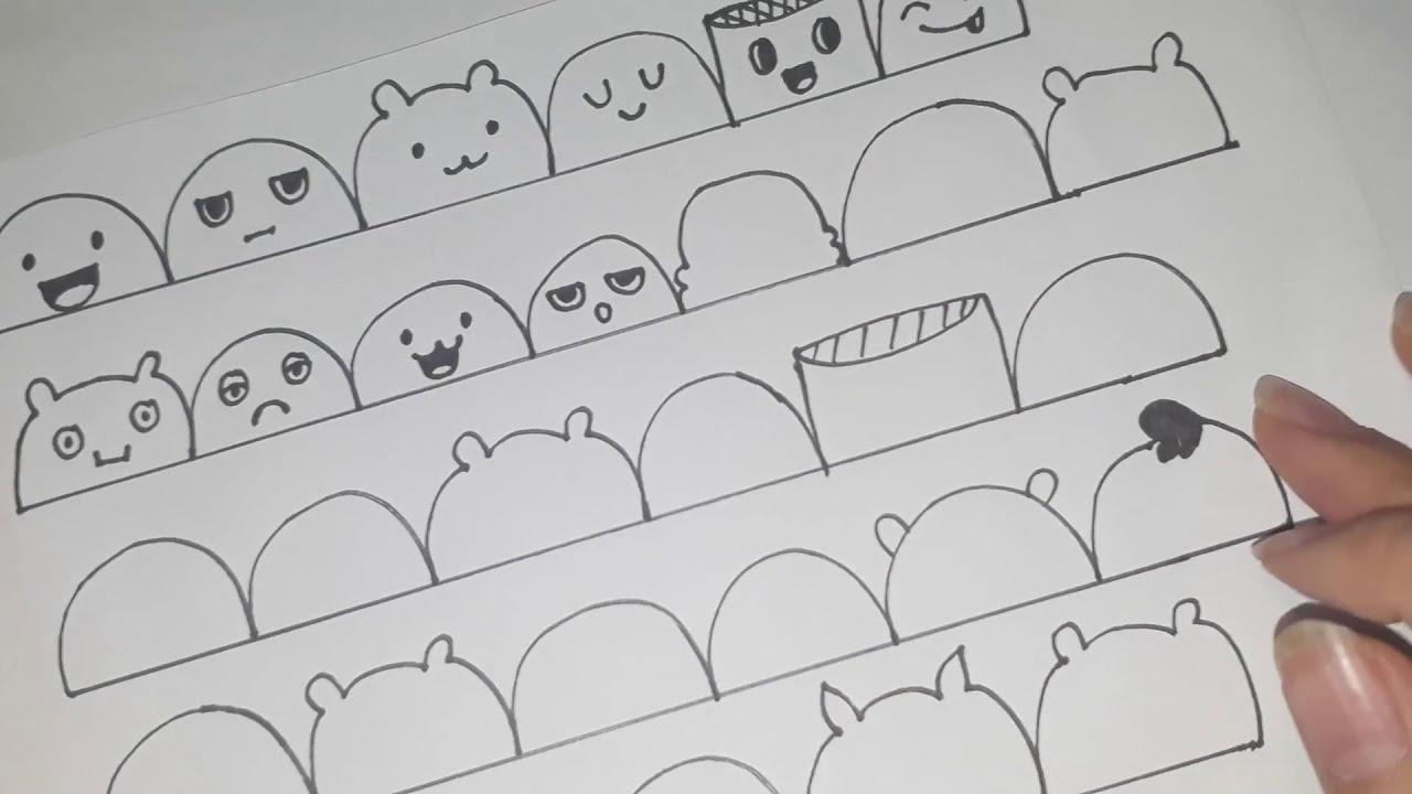 30 More Cute Faces- #2 – PHẦN 2 | VẼ 30 HÌNH MẶT DỄ THƯƠNG | Expressions to Doodle | HUYỀN MERRY