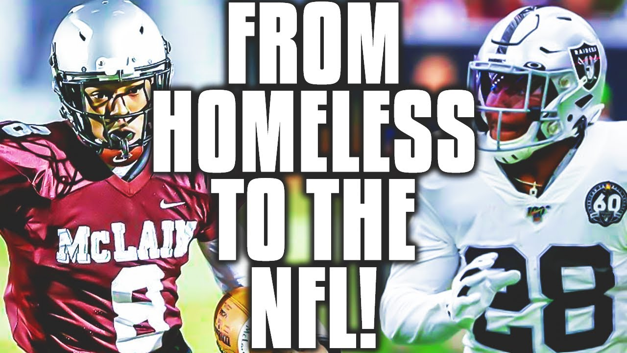 Raiders running back Josh Jacobs, who was once homeless ...