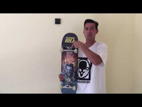 Frankie Hill demo of SkateHoarding wall display for skateboard completes