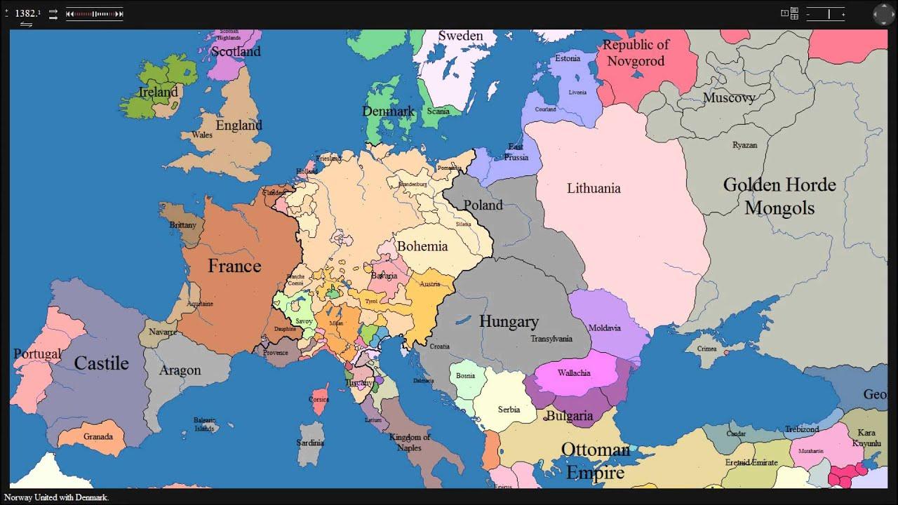 Europai Hatarok Valtozasa Az Elmult 1000 Esztendoben Youtube