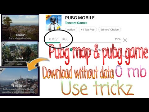Pubg game & pubg map download without mobile data 0mb | PUBG