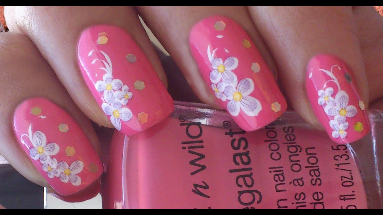 Water Decals Nail art - YouTube