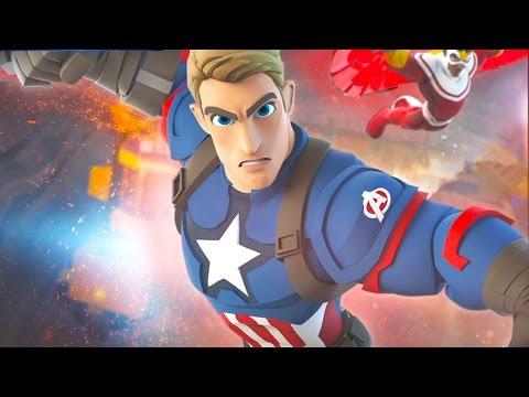 CAPTAIN AMERICA Cartoon Games for Kids DISNEY INFINITY 3.0 Superhero Videos for Kids