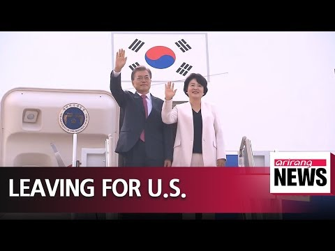 President Moon sets off for Washington for sit-down with Trump