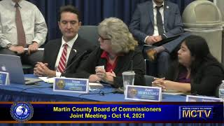 Martin County Board of County Commissioners  - Joint Meeting -  Oct 14, 2021