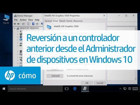 Reversión a un controlador anterior desde el Administrador de dispositivos en Windows 10 | HP
