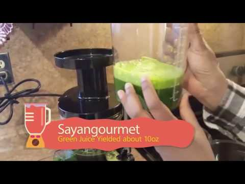 Omega VSJ843RS Cold Press Juicer - Kale Apple Green Juice Recipe
