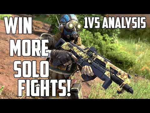 How to Win Solo Vs Squads Fights -  1vs5 Analysis! - Apex Legends Combat Tips #3