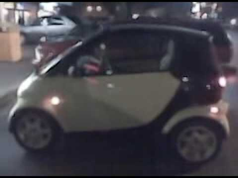 Kid in the back seat of a SMART CAR! - YouTube
