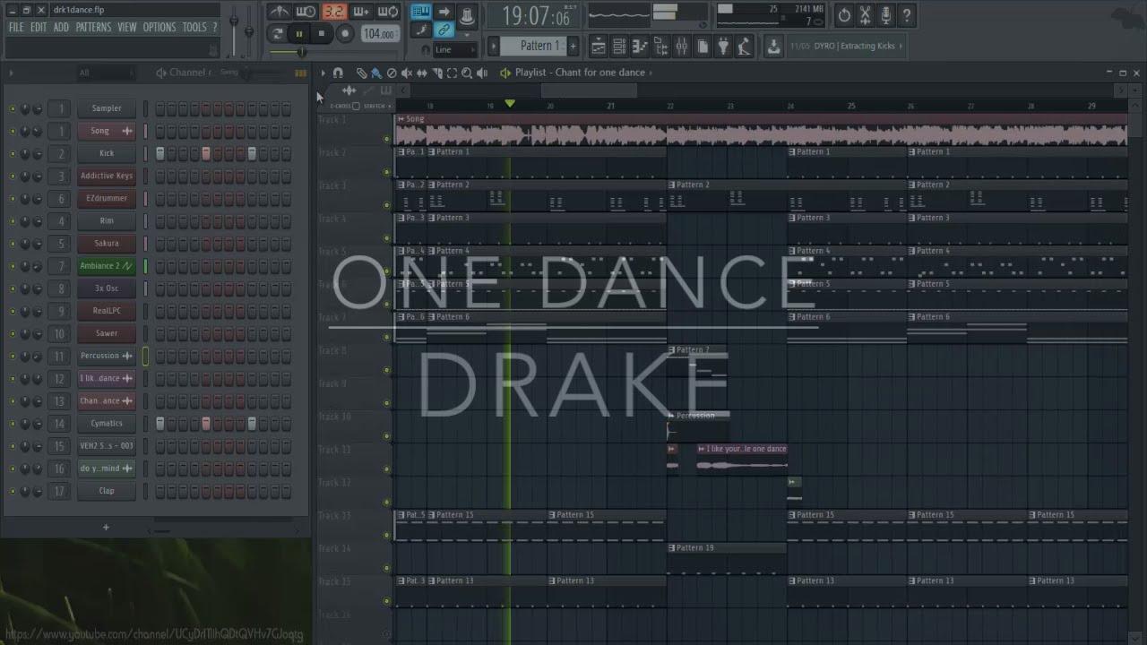 Drake - One Dance (feat. Kyla & Wizkid)   FL Studio   Free