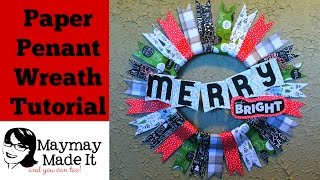 Paper Penant Christmas Wreath