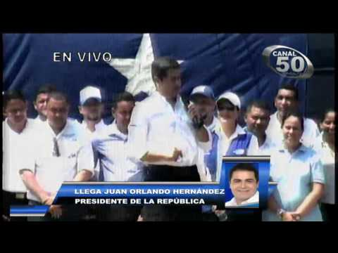 JUAN ORLANDO HERNANDEZ PRESIDENTE DE HONDURAS