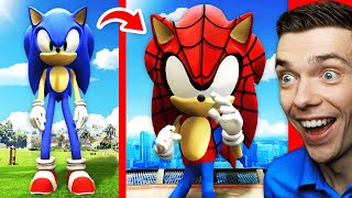 Playing As SPIDER-MAN SONIC To Rescue GTA 5 (Superhero Mods)