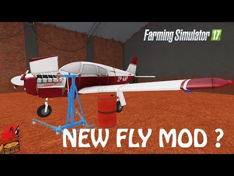 CAN YOU FLY WITH THIS MOD In Farming Simulator 2017 | CRAZY PLANE MODEL HEHE | PS4 | Xbox One