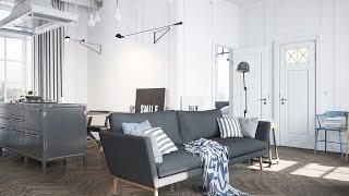 видео Квартира студия в скандинавском стиле и ее особенности