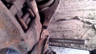скрип задней подвески мерседес w210 , замена плавающего сайлентблока