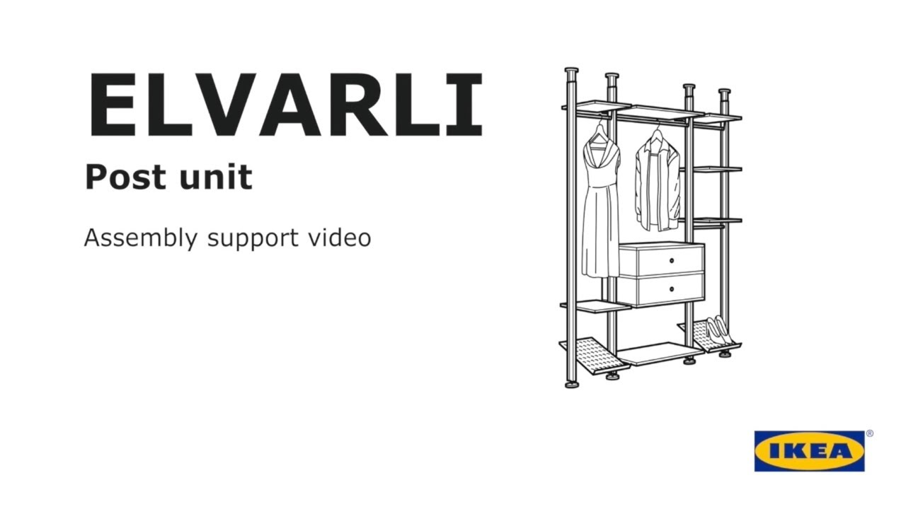 Elvarli Post Unit Assembly Support Video Youtube